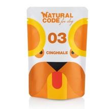 Natural Code 03 Dziczyzna - Mokra karma dla psa, saszetka 100g