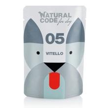 Natural Code 05 Cielęcina - Mokra karma dla psa, saszetka 100g