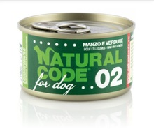 Natural Code 02 Wołowina i warzywa - Mokra karma dla psa, puszka 90g