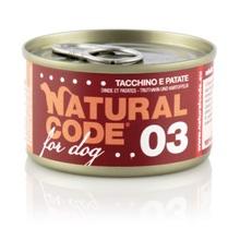 Natural Code 03 Indyk i ziemniaki - Mokra karma dla psa, puszka 90g