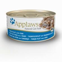 APPLAWS tuńczyk i krab, mokra karma dla kota, puszka 70g