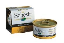 SCHESIR Tuńczyk z surimi w galarecie, mokra karma dla kotów 85g puszka
