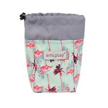 Amiplay - torebka na przysmaki dla psa, kolekcja BeHappy, wzór Flamingo