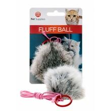 PET SUPPLIES FLUFF BALL - futrzana piłeczka na gumowej lince