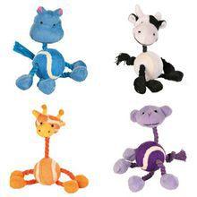 TRIXIE Mini piłka zwierzątko- zabawka ze sznurkami dla psa miniaturki