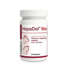 DOLFOS HepaDol Max - Ochrona i regeneracja wątroby, tabletki dla psów i kotów, 60 tabletek