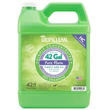 Tropiclean HC Pure Plum Pet Shampoo - głęboko myjący szampon do każdego rodzaju sierści, dla psów i kotów, koncentrat 1:42, 3.8l