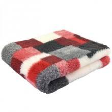 DryBed (VetBed) - antypoślizgowe posłanie, legowisko, szara/czerwona krata, A+