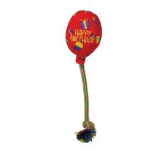KONG Occasions Birthday Balloon - Pluszak ze sznurem, balon urodzinowy, czerwony