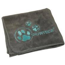 Show Tech - miękki ręcznik z mikrofibry, szary, rozmiar 90 cm x 56 cm