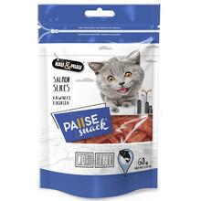 HAU&MIAU Pause snack przysmak dla kota, kawałki łososia 60g