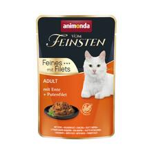 ANIMONDA Vom Feinsten Kaczka + filet z indyka - mokra karma dla dorosłych kotów, 85g