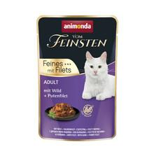 ANIMONDA Vom Feinsten Dziczyzna + filet z indyka - mokra karma dla dorosłych kotów, 85g