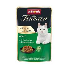 ANIMONDA Vom Feinsten Królik + filet z kurczaka - mokra karma dla dorosłych kotów, 85g