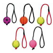 TRIXIE 4+1 gratis, zestaw gumowych piłek na sznurku, zabawki dla psa