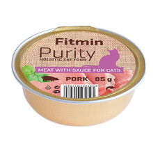 FITMIN Cat Purity alutray Pork - Kompletna karma mokra kotów, 85g