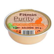 FITMIN Cat Purity alutray Salmon - Kompletna karma mokra kotów, 85g