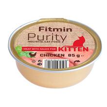 FITMIN Cat Purity alutray kitten Chicken - Kompletna karma mokra kotów, 85g