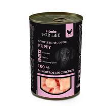 FITMIN FOR LIFE Dog Monoprotein Puppy Chicken - mokra karma dla szczeniąt z kurczakiem, puszka 400g