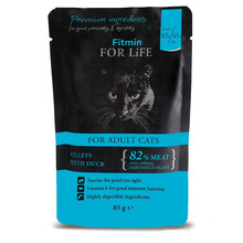 FITMIN For Life Cat Pouch Adult Duck - mokra karma saszetka dla kota 85g