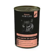 FITMIN For Life Cat Tin Salmon Sterilize - mokra karma dla kotów sterylizowanych, puszka 415g