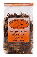 Herbal Pets Gałązki drzew liściastych - idealne do ścierania siekaczy 75g