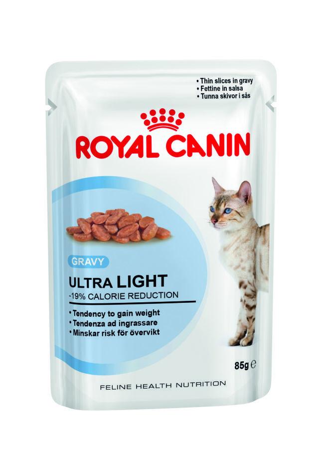 ROYAL CANIN Ultra Light - karma dla kotów z nadwagą, saszetka w sosie 85g