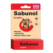 Sabunol- krople przeciw pchłom i kleszczom dla ras miniaturowych np. yorków 0,7 ml