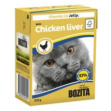 BOZITA Chunks in Jelly with Chicken Liver - karma dla kota z wątróbką drobiową 370g
