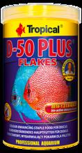 TROPICAL D-50 PLUS - wybarwiający pokarm w formie płatków dla paletek