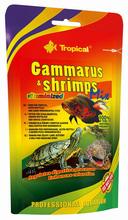 TROPICAL GAMMARUS & SHRIMPS MIX - suszony gammarus i krewetki - dla gadów i dużych ryb