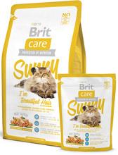 BRIT CARE CAT SUNNY I'VE BEAUTIFUL HAIR - hipoalergiczna karma dla kotów o długiej sierści