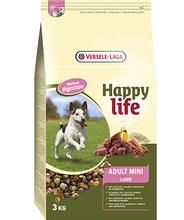 Versele Laga Happy Life Adult Mini Lamb - karma z jagnięciną dla psów dorosłych ras małych, 3kg
