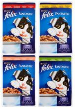FELIX FANTASTIC - kawałki mięsa w soczystej galaretce - saszetka dla kota, 100g