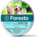Bayer Foresto- obroża przeciw pchłom i kleszczom dla kotów i psów do 8kg wagi ciała + odblaskowe zaczepy na obrożę GRATIS! Bezzapachowa!