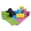 Kruuse Fun-Flex- bandaż kolorowy, szerokość 10cm, długość 4,5m na rany i do papilotowania
