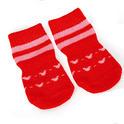 Camon Soft Step skarpetki antypoślizgowe dla psów - czerwone