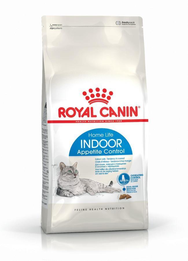 ROYAL CANIN Indoor Apetite Control- koty dorosłe, od 1 do 7 roku życia, przebywające wyłącznie w domu, intensywnie domagające się jedzenia