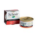 SCHESIR Tuńczyk z Krewetkami w Galaretce - 100% naturalna karma dla kotów, puszka 85g