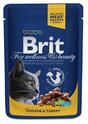 BRIT Premium Kurczak i Indyk w Sosie - karma dla kotów, saszetka 100g