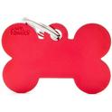 MY FAMILY Bone Red - aluminiowa adresówka dla psa