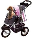 Innopet Buggy Comfort - wózek spacerowy dla psa z pompowanymi kołami, różowy