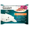 Purina Gourmet Perle Mini fileciki w sosie - karma dla kota, 3+1