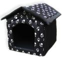 FUKS - Buda dla psa, kolor czarny, w łapki