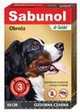 SABUNOL GPI Obroża Ozdobna  50 cm- obroża przeciw kleszczom i pchłom dla psa, kolor czarny
