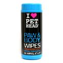 Pet Head Paw & Body Wipes - nawilżane chusteczki do łap i ciała 50 szt.
