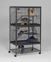 MIDWEST Podwójna klatka na kółkach dla szczurów, fretek i szynszyli 91 x 61 x 160 cm