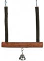 TRIXIE Drewniana huśtawka z dzwonkiem dla ptaków Natural Living