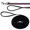 TRIXIE Smycz treningowa Fusion dla psa w kolorze czarno-różowym