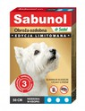 SABUNOL GPI obroża przeciw kleszczom i pchłom dla psa, kolor niebieski w kółka 50cm